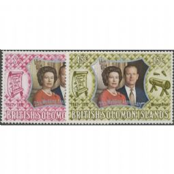 British Solomon Islands 1972 SG234-5 Royal Silver Wedding set of 2